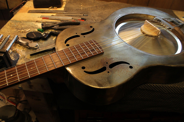 handmade steel resonator guitar mule resophonic. Black Bedroom Furniture Sets. Home Design Ideas